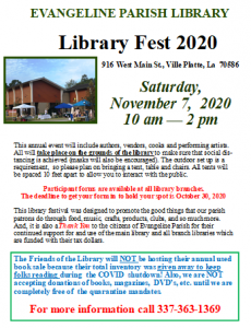 Library Fest @ Evangeline Parish Library