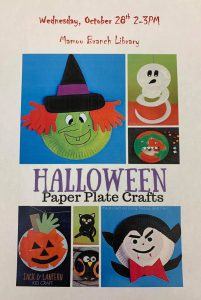 Halloween Paper Plate Craft @ Mamou Library