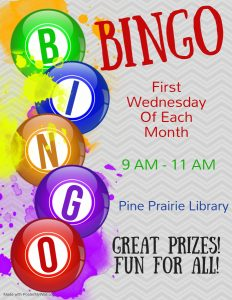 Bingo @ Pine Prairie Library