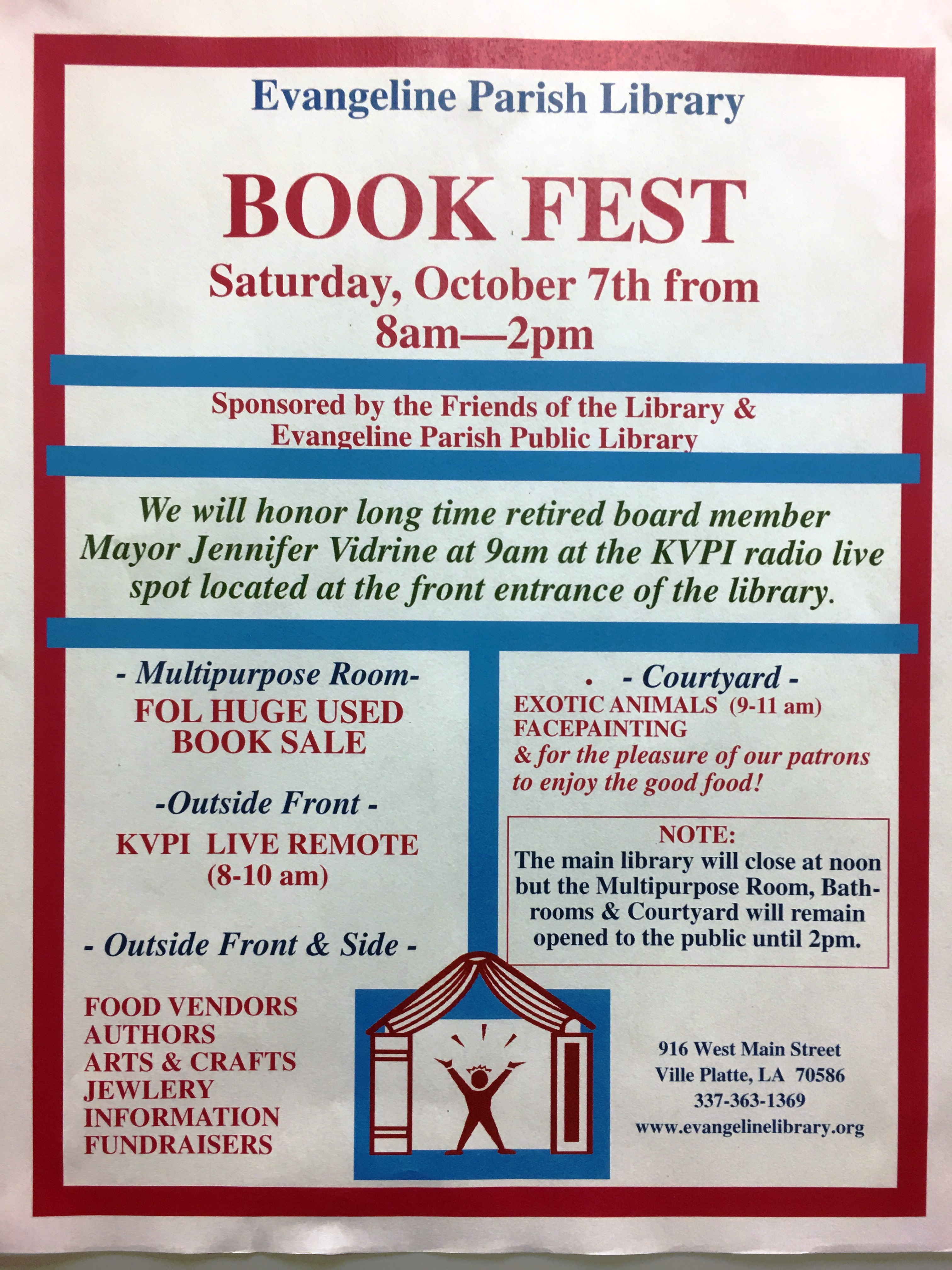 Bookfest Is Almost Here Please Share This Information