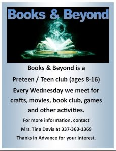 Books & Beyond Youth Club @ VILLE PLATTE LIBRARY