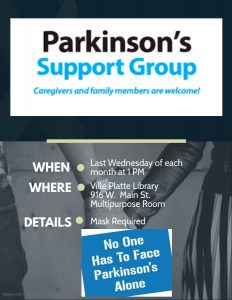 Parkinson's Support Group @ Evangeline Parish Library