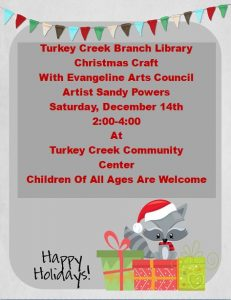 Turkey Creek Christmas Craft @ Turkey Creek Community Center